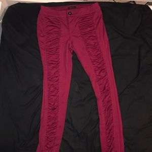 Red Stretchy Pants